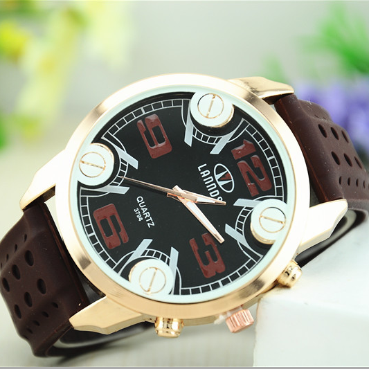2015 fresh big face promotional gift sets custom silicone watch slap watch led digital watch