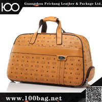 High Quality Travel Waterproof Duffel brown large size durable oxford duffle bag