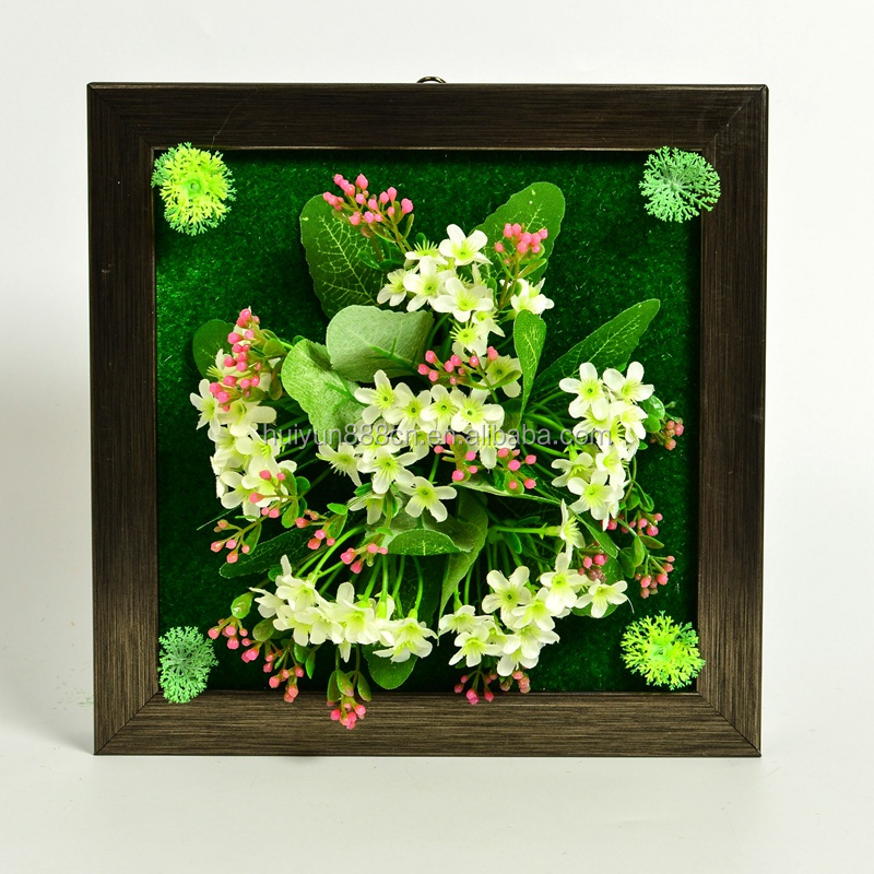 Wholesale best sale hanging wall decorative artificial photo frame flower