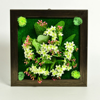 Wholesale best sale hanging wall decorative artificial photo frame flowers