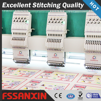 Top quality computer embroidery machine 24 heads high speed flat embroidery machine