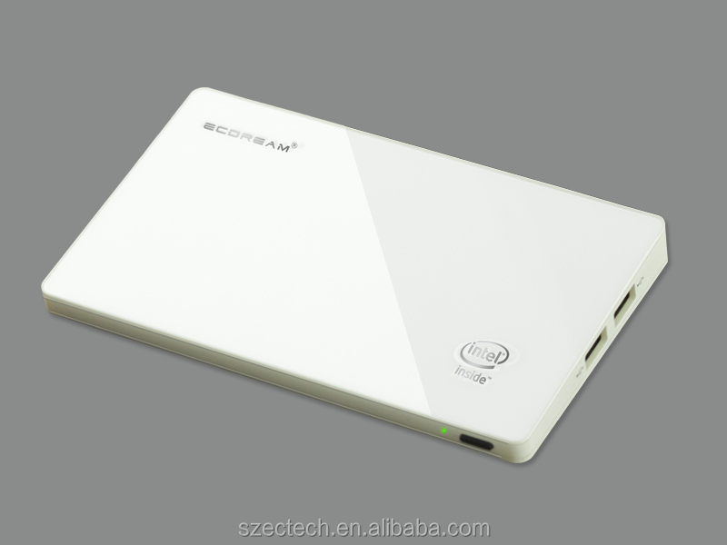 Ultra slim case 64 bits Windows andriod mini pc quad core Intel Atom Z3735F 2GB RAM 32GB ROM Max 128GB with bing system