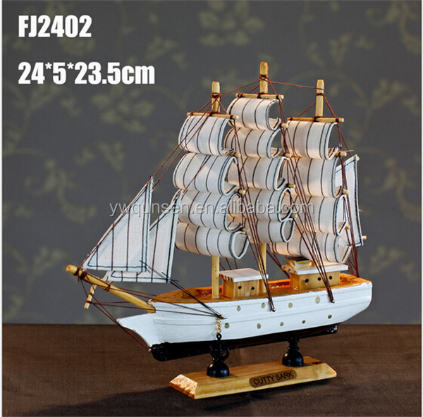 Promotional custom popular handcrafted wooden model ship