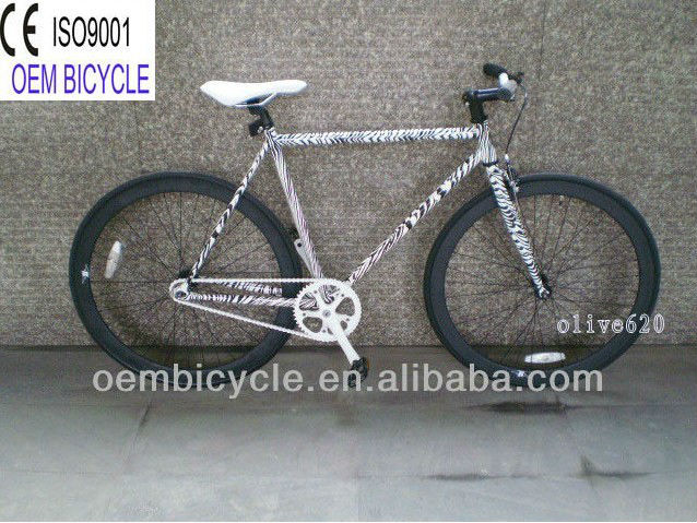 700C <strong>specialized</strong> Zebra-stripe newest style hot sale fixie fixed gear bike bicicletas