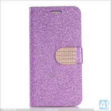 Good quality factory price luxury wallet ID card slots design diamond bling phone case for s6
