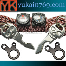 Yukai Fast binding buckle survival cord adjuster in stainless steel