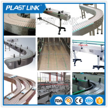 Plastlink transmission 360 degree rotating flexible chain conveyor