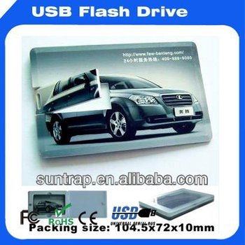 Free LOGO Printed Credit Card USB Flash Drive Pen drive Stock Products USB Card
