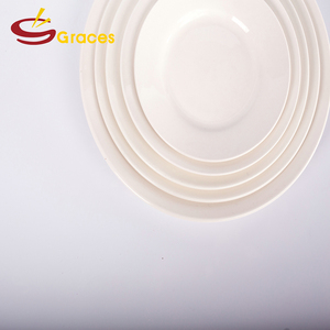 Classic ceramic white round shape dishes porcelain cake dessert thin plates for school