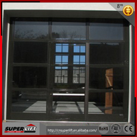 Frosted Automatic Aluminum Glass Panel Garage Doors With Opener