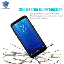Anti Shock Matte PC Hard 360 Full Body Case For Samsung Galaxy S8 With Hot Bending TPU Screen Protector