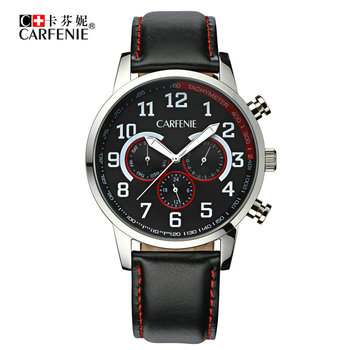 Latest fashion design multifunction men quartz wrist watch