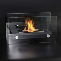 decorative fireplace, ethanol burner, metal fireplace with glass fence
