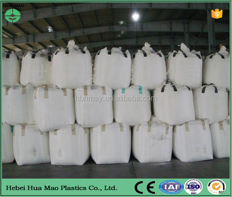 Cubic Type Skirt Cover Top Flat Bottom 4 Loop Polypropylene 1 Ton Big Bag Container Transport With Inner Layer
