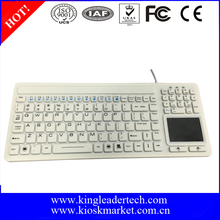 RoHs Certificated White Color Waterproof Keyboard with Touchpad