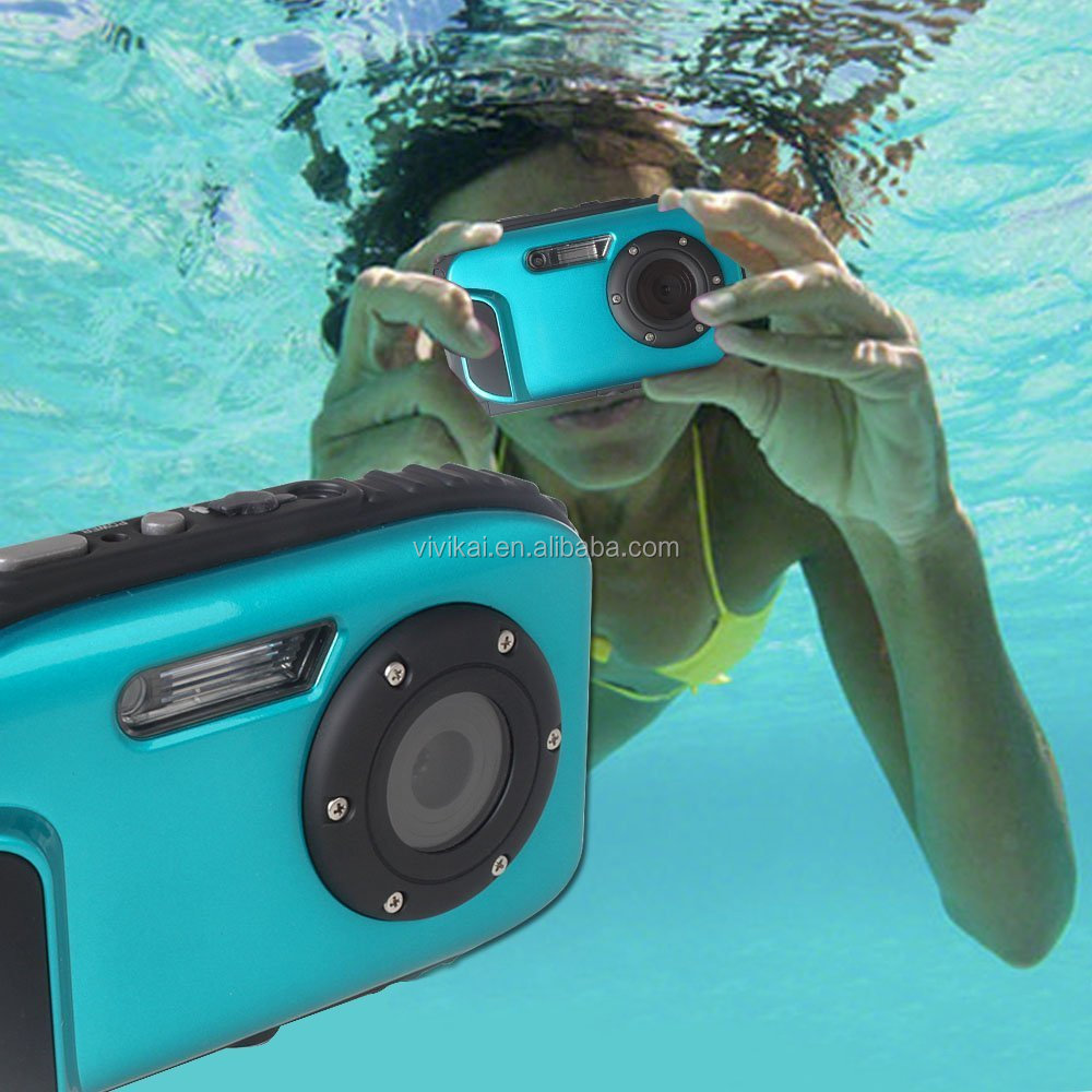 Professional 10M underwater sports digital camera coms sensor camera,waterproof camera 3 color optional