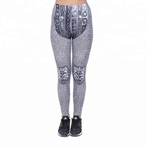 Zohra custom printed sexy ladies sport workout gym fitness yoga leggings for women's