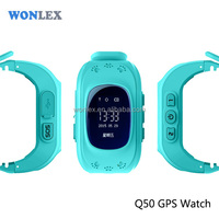 2016 Special Design Kids GPS GSM tracker watch Wristband Watch Q50 With MTK Ublox Chip Two Way Communication Android IOS APP