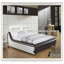 Modern King Size white Leather Bed PY-110