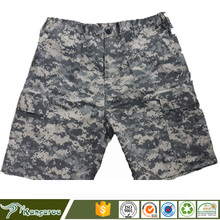 Military surplus mens ACU camouflage cargo shorts