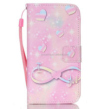 For Samsung i9600 Wallet flip leather case, for Galaxy S5 butterfly case pouch