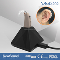 Rechargeable hearing aid power BTE with magnetic dual charging base
