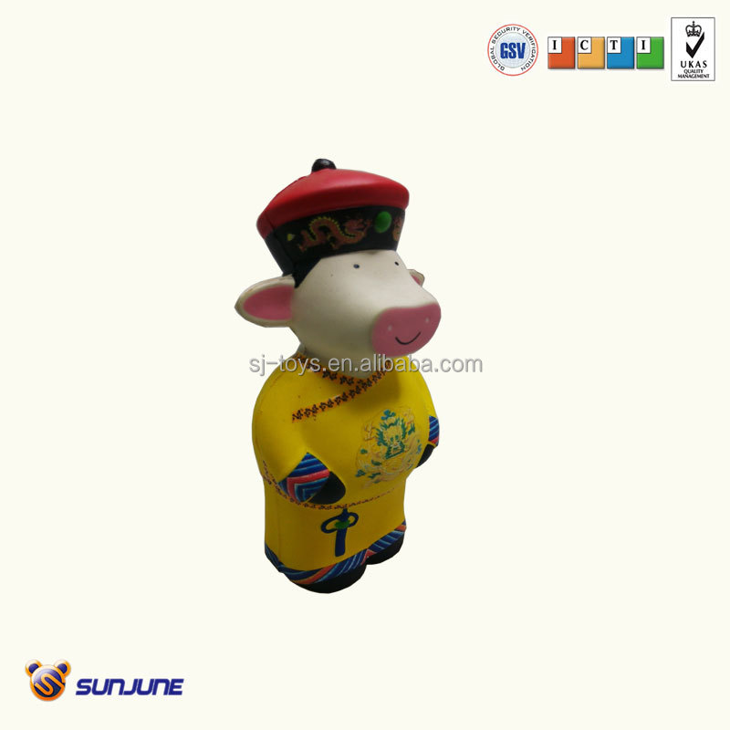 Pu soft pig emperor toy, pu children toys