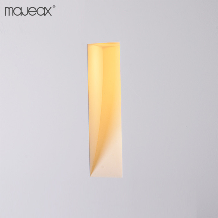indoor IP20 decorative gypsum plaster 1 watt Warm White recessed led wall light stair lamp step lights for home hotel villa