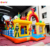 Cartoon world inflatable playground inflatable funcity jumping slide