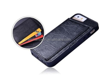 Fashional design leather phone case with card slot and wallet for iphone 4 4s 5 5s CO-LTC-1042