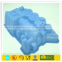 Steam engine train shapes silicone cake baking tray