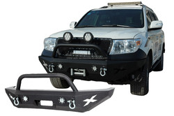 08-12 Toyota Land Cruiser/4500 Front Bumper with Two Round LED Lights