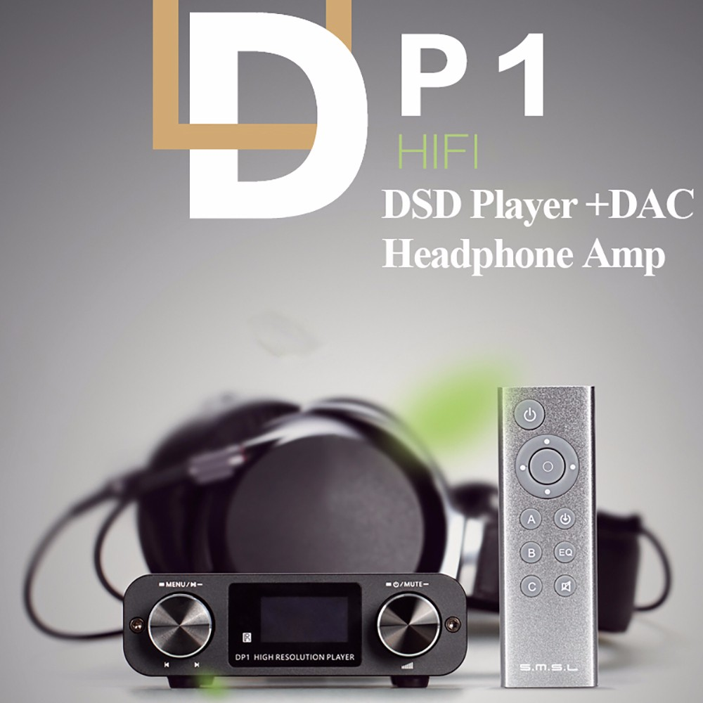 SMSL DP1 HIFI DSD Player/Digital Dial DAC/Headphone Amplifier