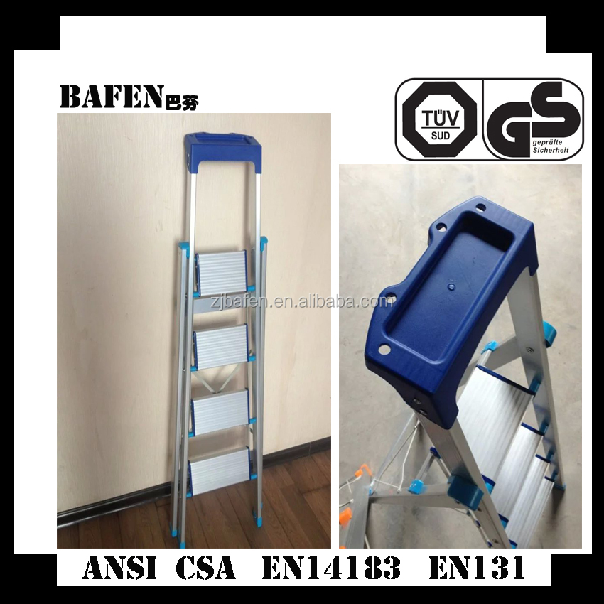 Specialized in exporting Household aluminum folding ladder and Adjustable decorative step ladder,Multi purpose folding step tool