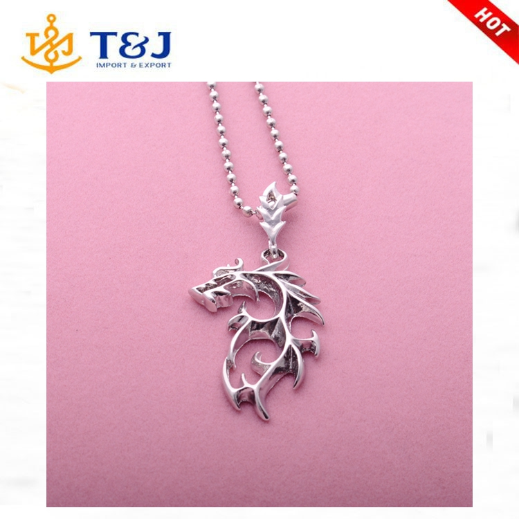 2016 New Design Fashin Charm Animal Shape Pendant Birthday Gift Alloy Necklace For Men