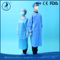 Non-woven disposable SMS sterile reinforced surgical gown