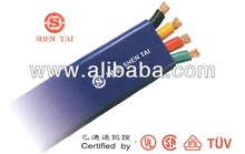 World Leading PVC Flat Crane Cable: UL, CSA, VDE, TUV approved (Sample available to testify)