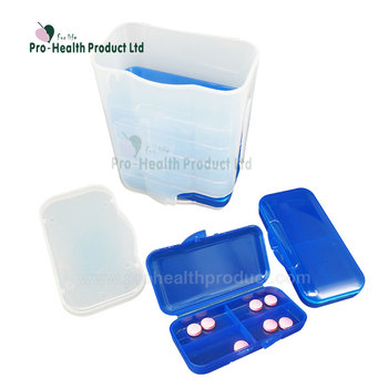 Plastic 7 Layers 28 Compartments Travel Flip Top Pill Box Pill Bottle Case