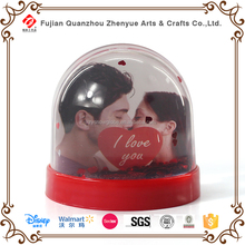 Polyresin Custom Romantic Wedding Picture Insert Snow Globe