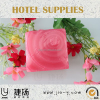 Square pink hotel soap almond fragrance lot of 50pcs hotel soap factory travel use soap