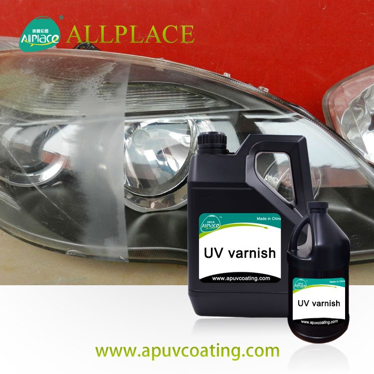 China Supplier UV Cured Clear Coat for Headlights Car Headlamp UV varnish Coating
