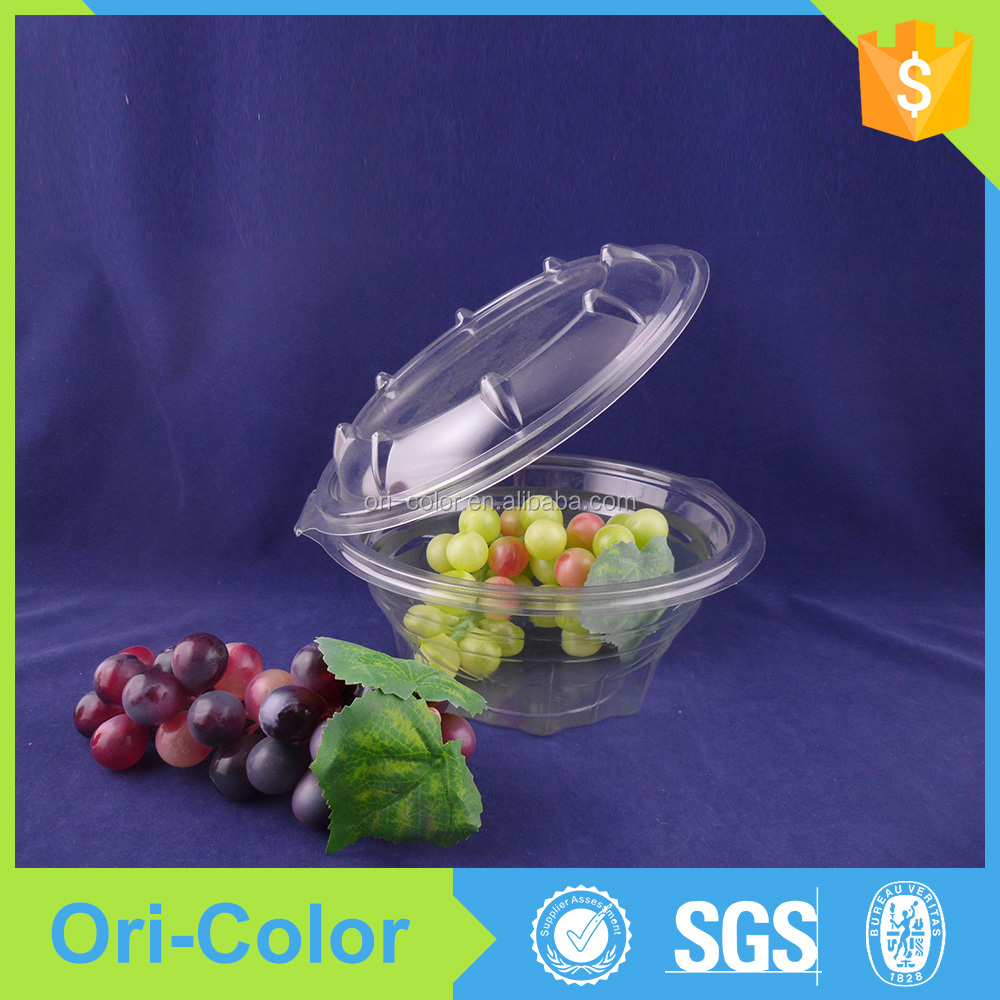 Widly used plastic fruit salad boxes food containers
