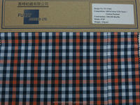 100% Cotton Yarn Dyed Check with Carbon Peach Finish