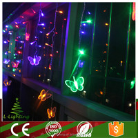 wholesale multi function outdoor led christmas lights icicle with butterfly