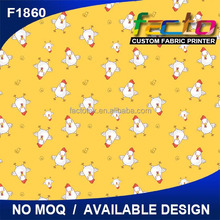Custom printed cartoon design bed sheet fabric for baby/kids bedding