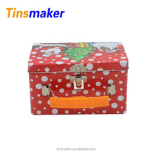 OEM factory custom large metal food lunch tin box for christmas