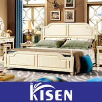 Home bedroom solid wood suite furniture for sale 1.8 L112