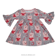 New Model China Customized Girl Dress Soft Baby Cotton Children Dress For Valentine's Day