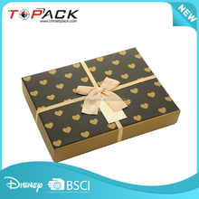 New desgin cosmetics box factory paper packaging custom Logo printed love grid paper gift box