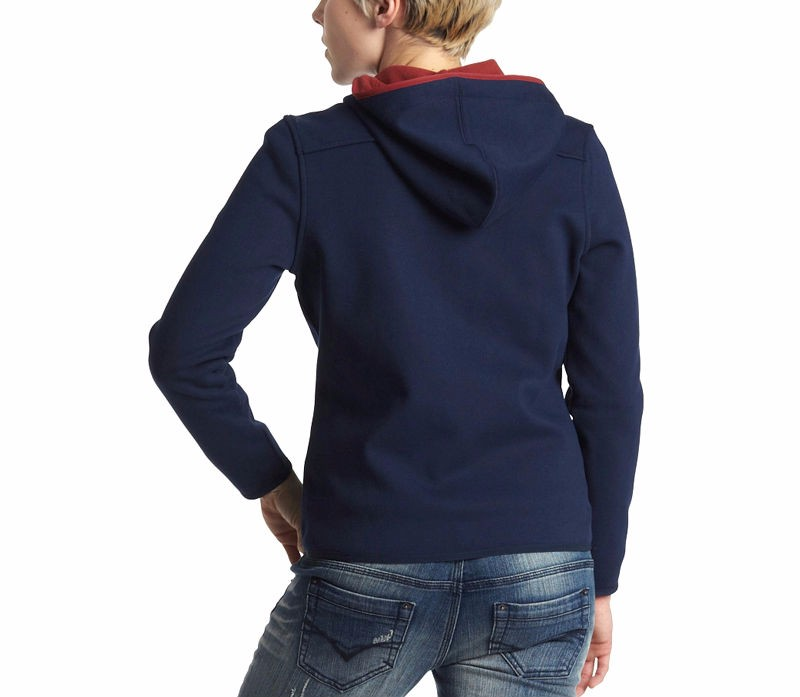 wholesale100% cotton fleece fashion women plain hoodies blank high quality zipper hoodie